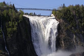 montmorency québec waterfall