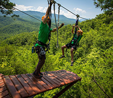 Zipping in at ClimbWORKS