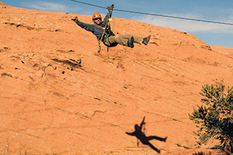 Aerial Designs zip in Moab, Utah