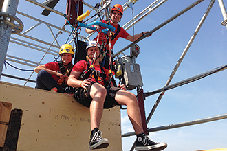 Treetop Trekking devised this accessible zip line for the 2015 Pan Am Games in Toronto, then adapted the concept for the new Skywood Discovery Zip Line in the 1000 Islands.