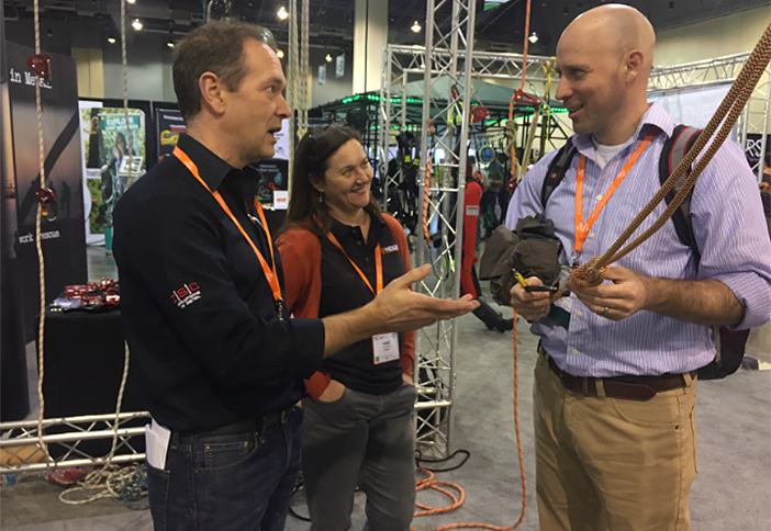 The team at ISC chats with Arbortrek's Mike Smith.