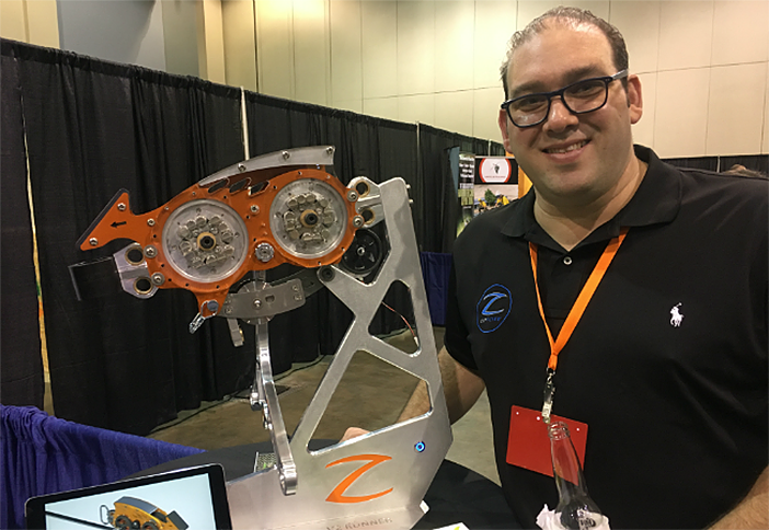 ZipFlyer's Shawn Lerner displays some of their latest tech.