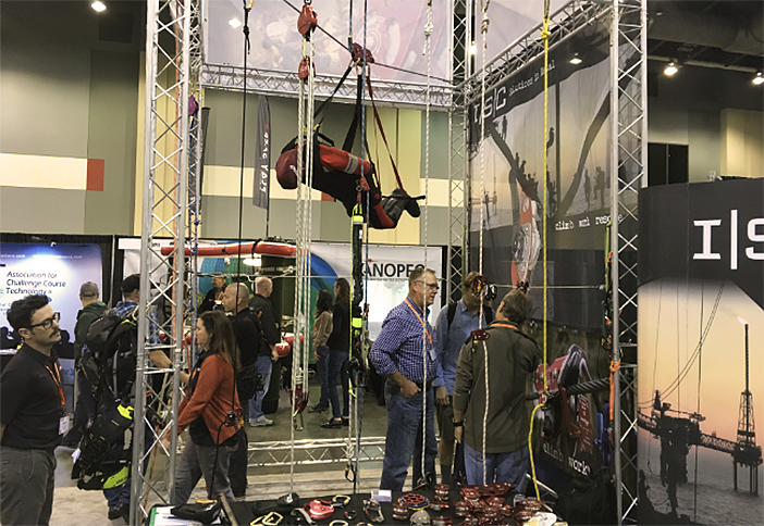 High flying at the ISC booth.