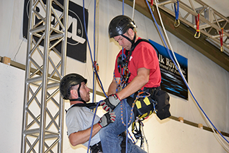 Rope access training with Vertical Axcess.