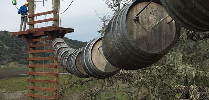 wine barrel bridge